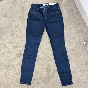 Ann Taylor Loft Petite Dark Denim Skinny Jeans